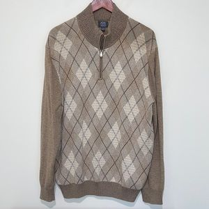 EUC JOE Joseph Abboud Argyle Sweater Large
